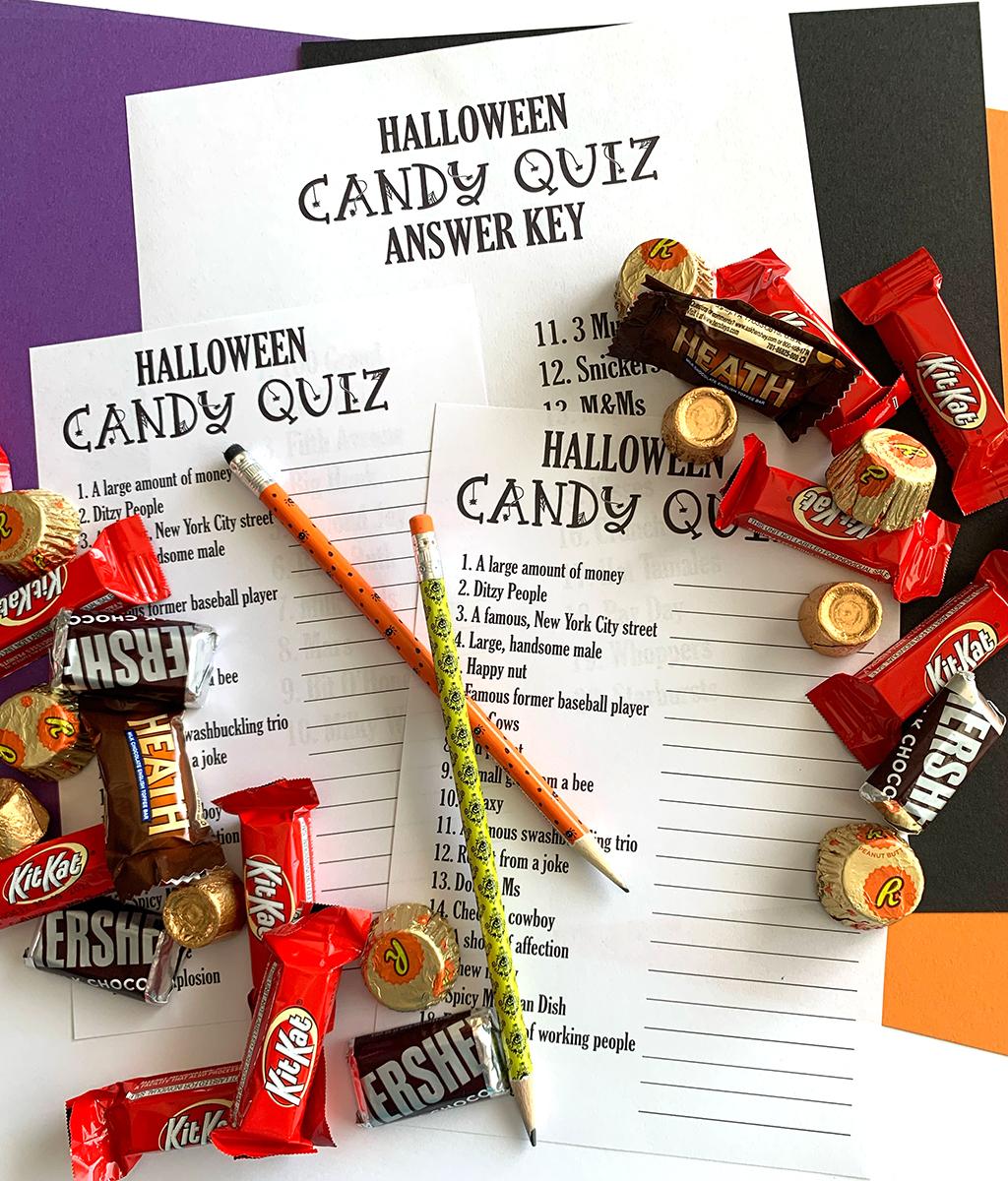 Halloween Candy Quiz Game