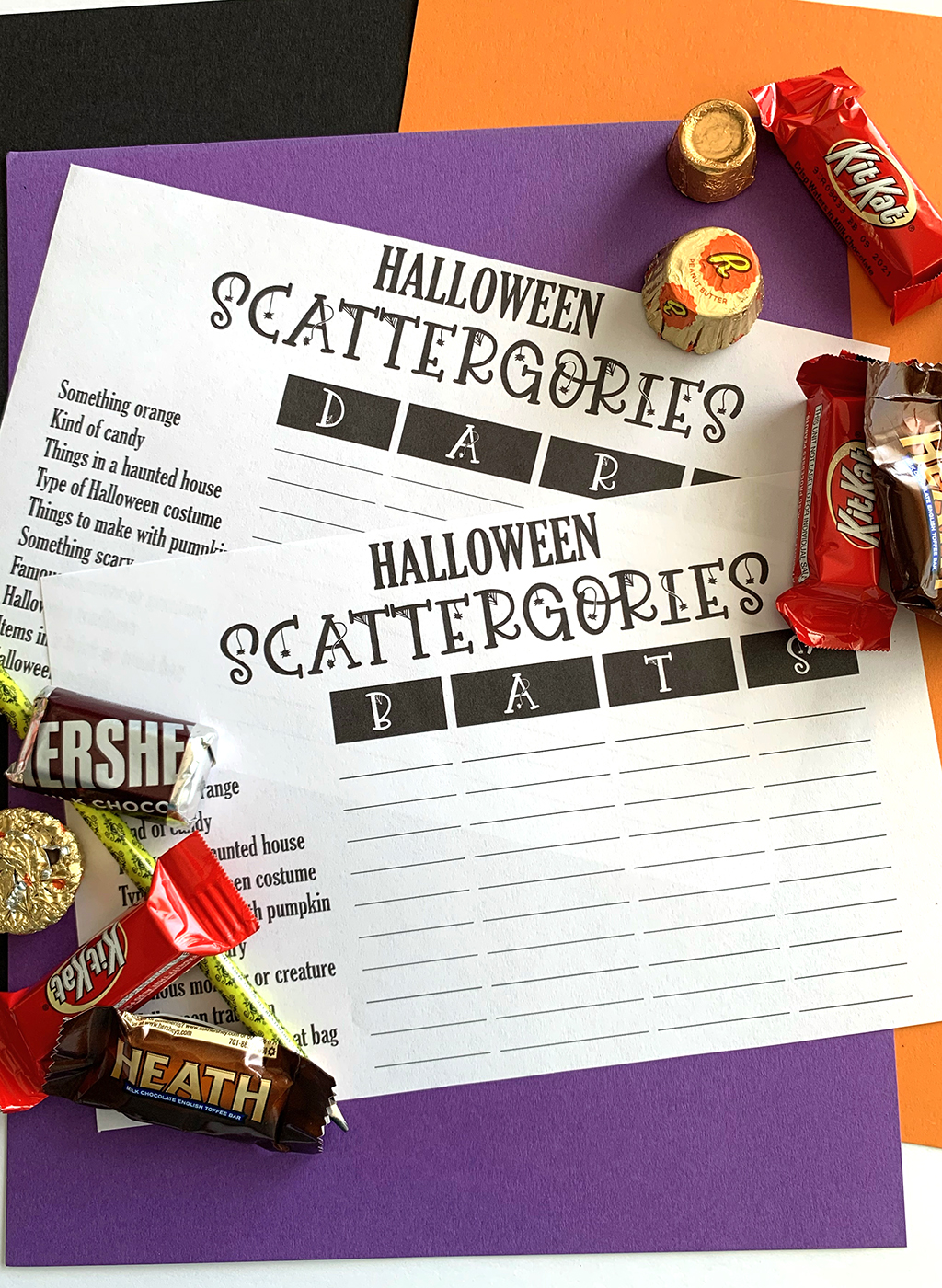 Halloween Scattergories Party Game