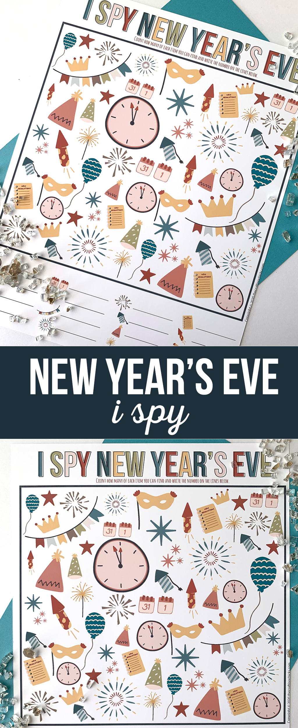 I Spy New Year's Eve Printable Game