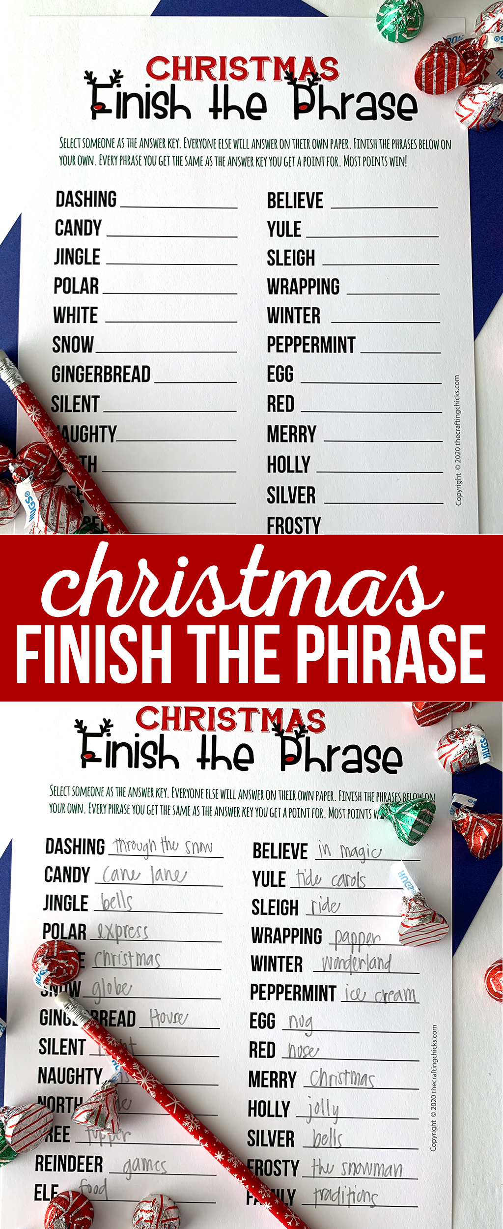 Christmas Finish the Phrase Game