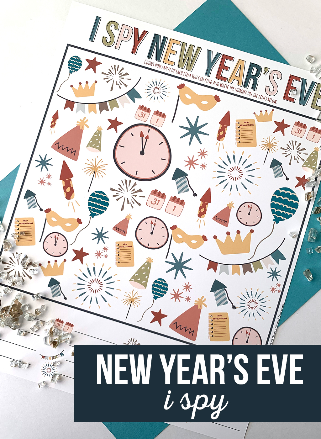 New Years Eve I Spy Printable Game
