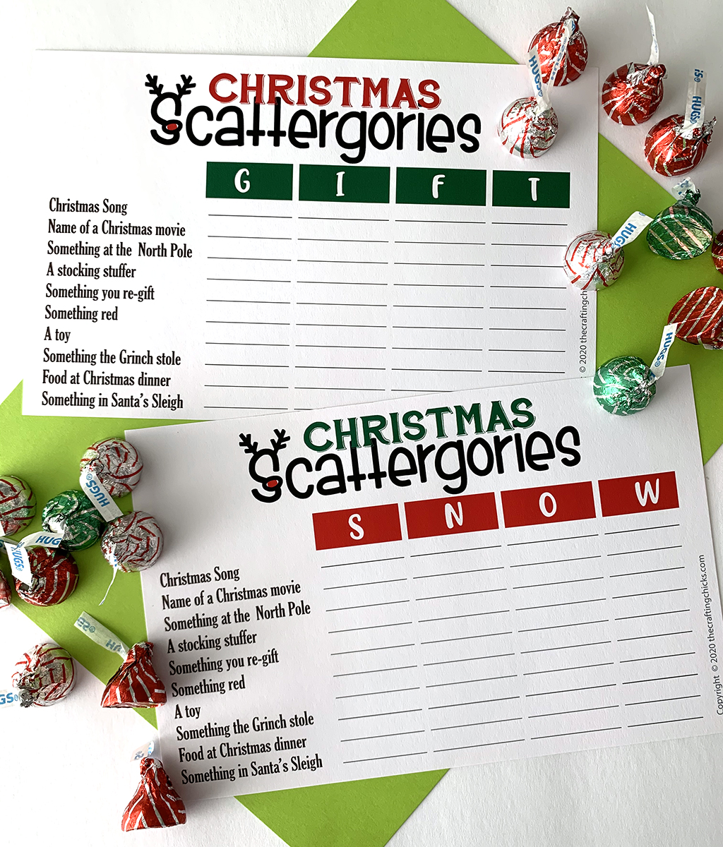 Christmas Scattergories Free Printable The Crafting Chicks