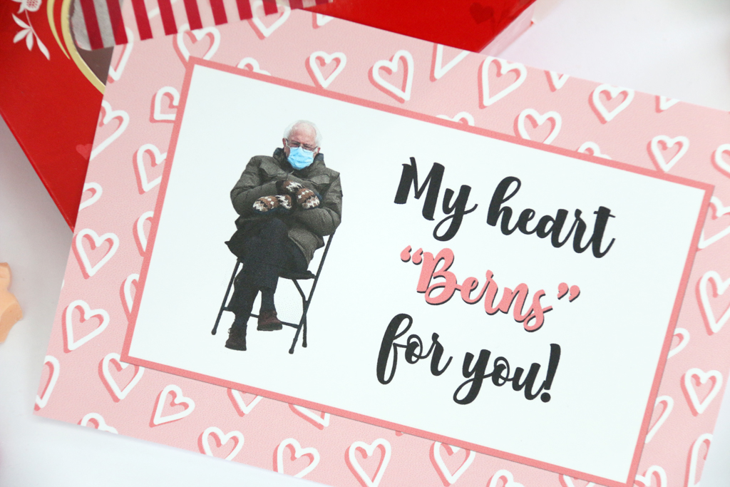 "My Heart ""Berns"" for you Free Valentine Gift Tag"