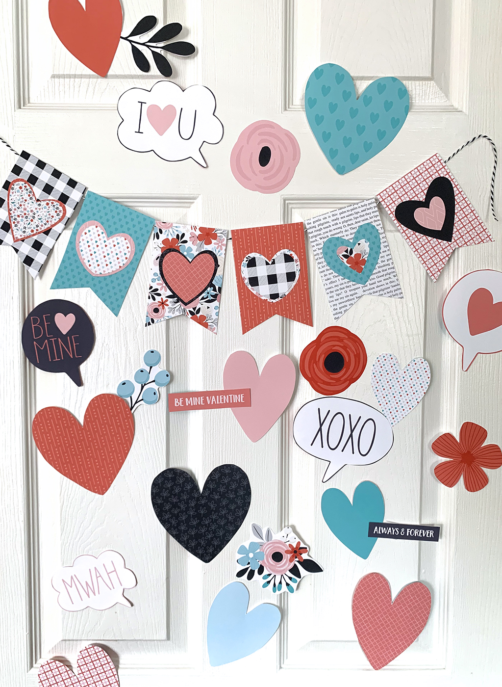 Printable Heart Attack on a white door.