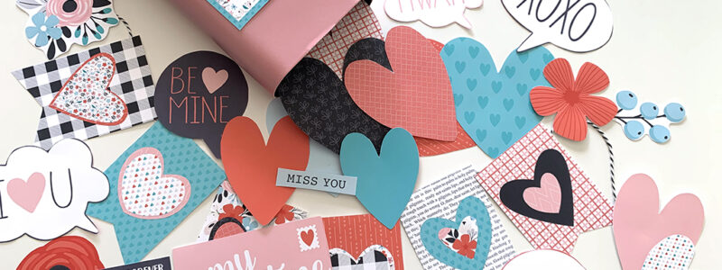Printable Heart Attack in a Box printables cut out on a white table