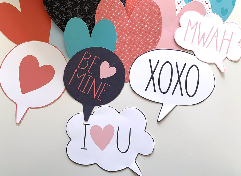 Word bubbles for valentines Heart attack printables