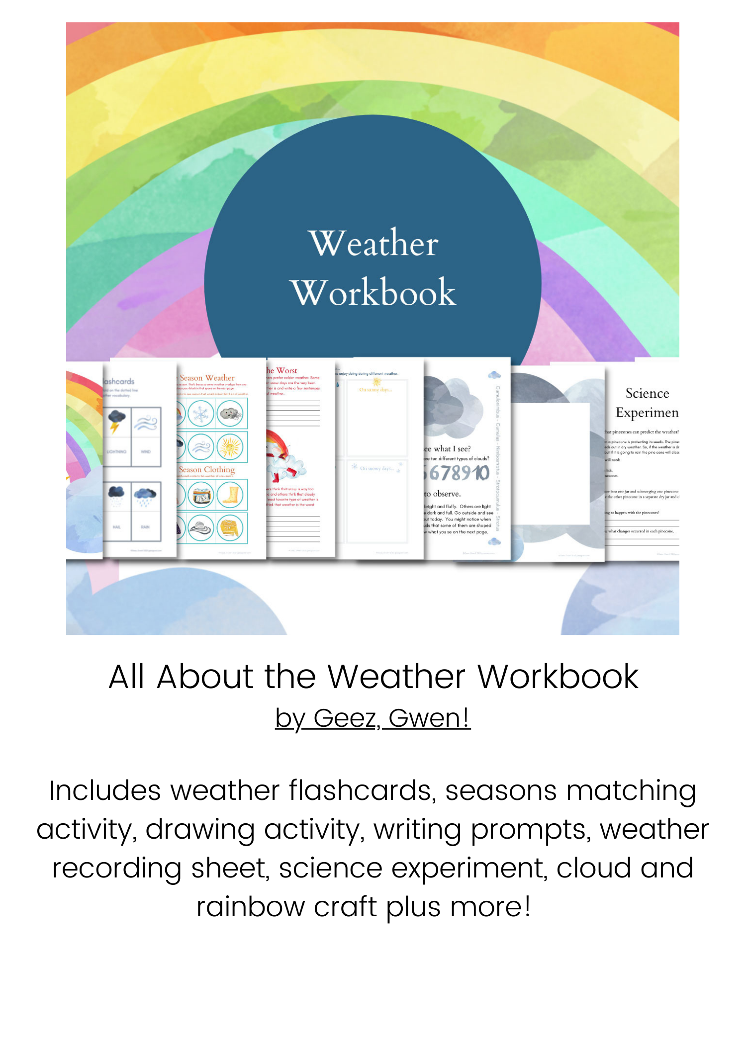 All About the Weather Workbook Bundle Info