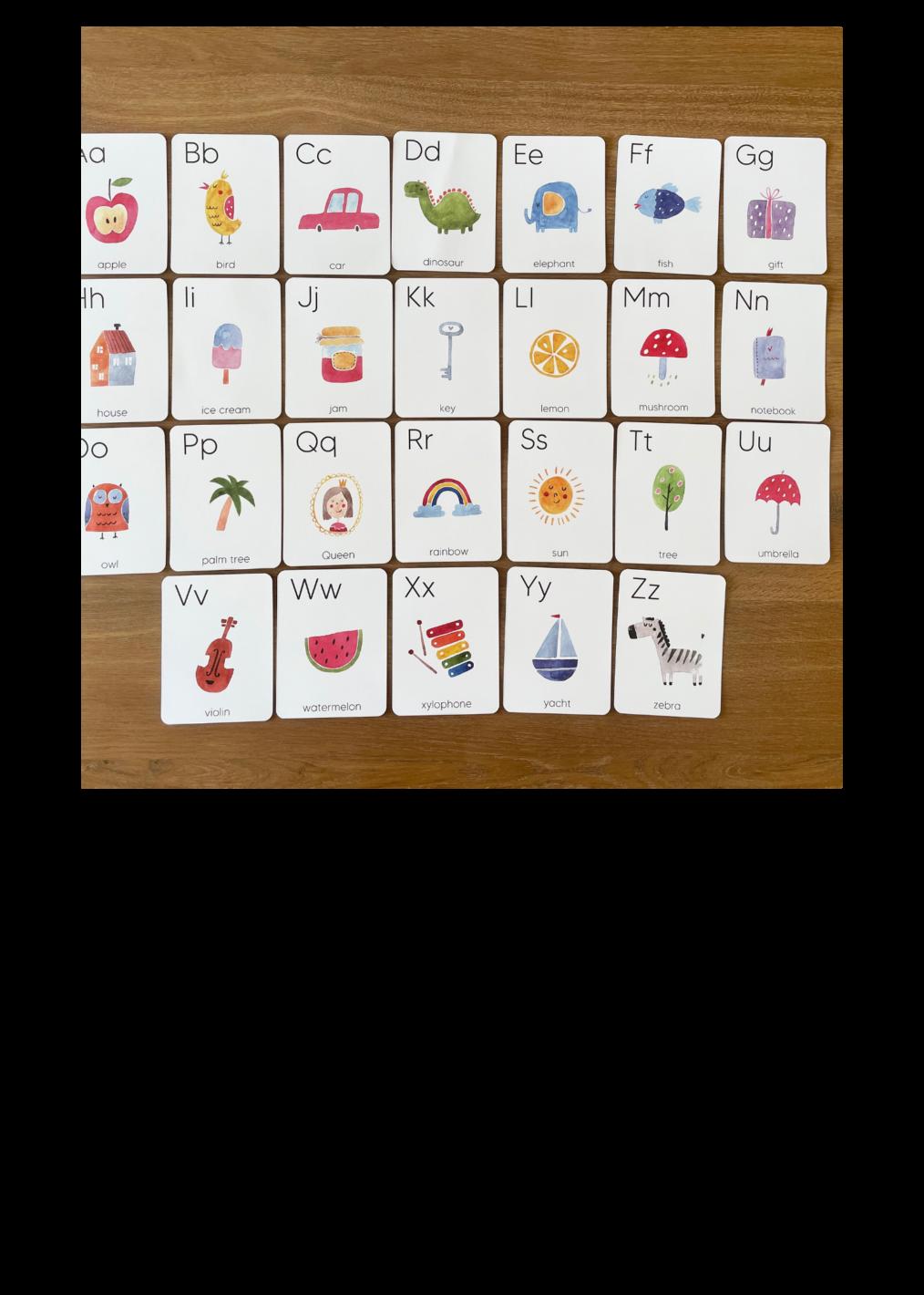 Alphabet Flashcards Info